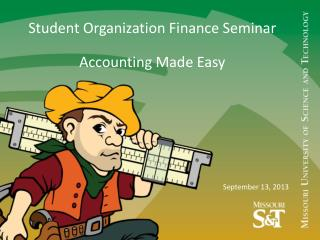 Student Organization Finance Seminar Accounting Made Easy