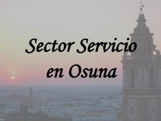 Sector Servicio en Osuna