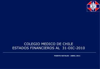 COLEGIO MEDICO DE CHILE ESTADOS FINANCIEROS AL 31-DIC-2010