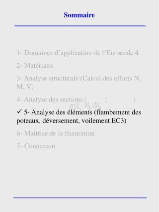 1- Domaines d'application de l'Eurocode 4 2- Matériaux