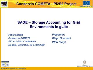 SAGE – Storage Accounting for Grid Environments in gLite