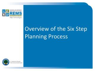Overview of the Six Step Planning Process
