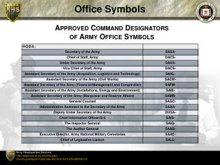 Office Symbols