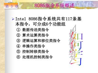 8086 指令系统概述