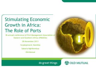 Stimulating Economic Growth in Africa: The Role of Ports