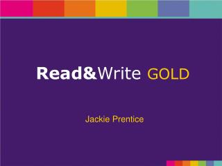 Read& Write GOLD
