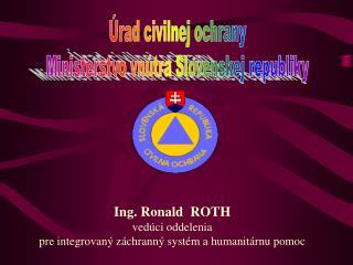 Úrad civilnej ochrany Ministerstvo vnútra Slovenskej republiky