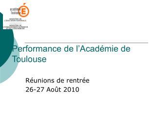 Performance de l'Académie de Toulouse