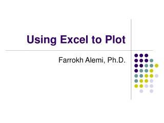 Using Excel to Plot