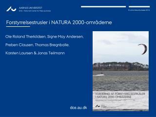 Forstyrrelsestrusler i NATURA 2000-områderne
