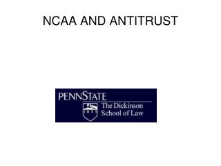 NCAA AND ANTITRUST