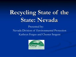 Recycling State of the State: Nevada