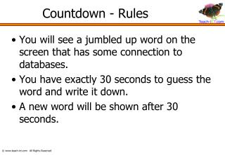 Countdown - Rules
