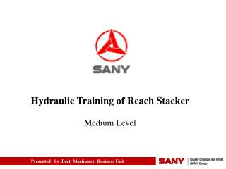 Hydraulic Training of Reach Stacker Medium Level