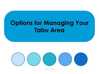 Options for Managing Your Tabu Area