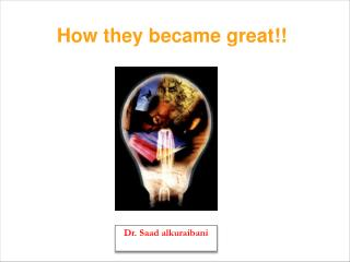 How they became great!!