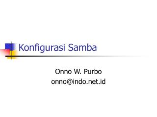 Konfigurasi Samba
