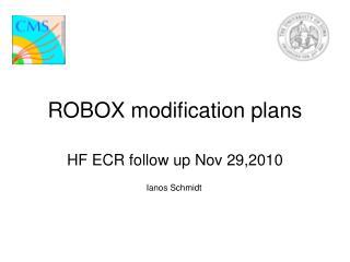 ROBOX modification plans