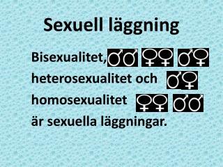 Sexuell läggning