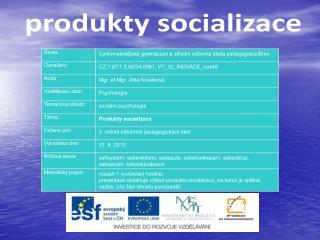 produkty socializace