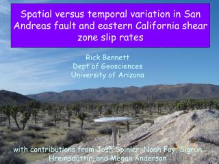 San Andreas fault and eastern California shear zone