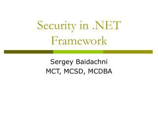 Security in .NET Framework