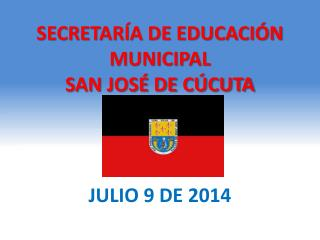 SECRETARÍA DE EDUCACIÓN MUNICIPAL SAN JOSÉ DE CÚCUTA