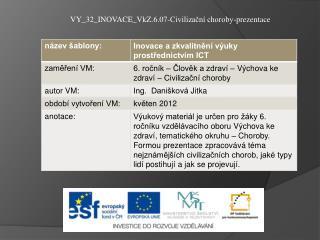 VY_32_INOVACE_VkZ.6.07-Civilizační choroby-prezentace
