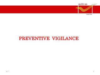 PREVENTIVE VIGILANCE