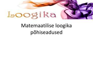 Matemaatilise loogika põhiseadused