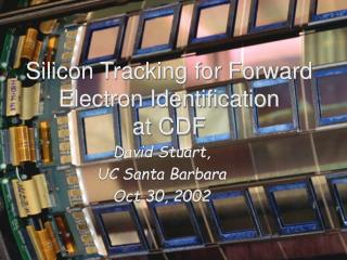 Silicon Tracking for Forward Electron Identification at CDF