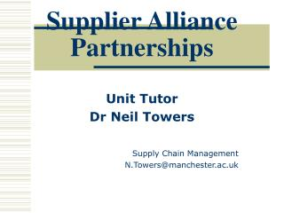 Supplier Alliance Partnerships