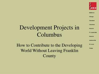 Development Projects in Columbus