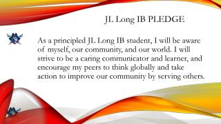 JL Long IB PLEDGE