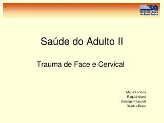 Saúde do Adulto II