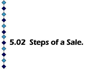 5.02 Steps of a Sale.