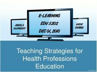E-LEARNING EDU 5202 DEC 01, 2010