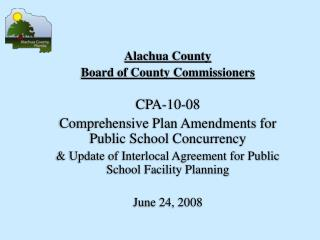 Alachua County  Board of County Commissioners CPA-10-08