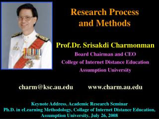Research Process  and Methods