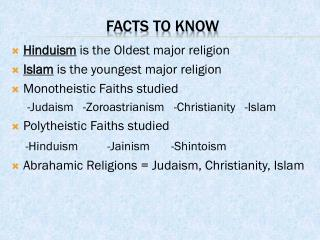 Facts to Know