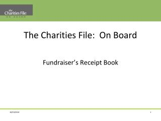 The Charities File: On Board Fundraiser's Receipt Book
