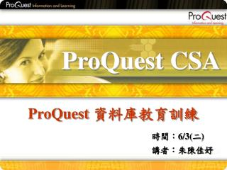 ProQuest CSA