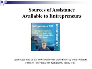 Sources of Assistance Available to Entrepreneurs