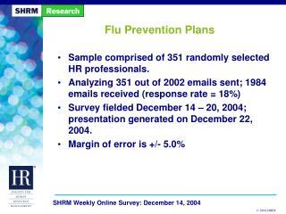 Flu Prevention Plans