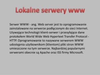 Lokalne serwery www