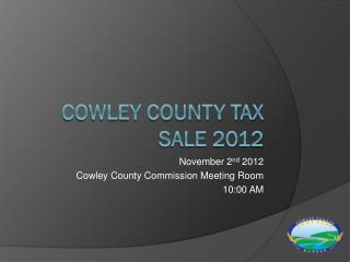 Cowley County Tax Sale 2012