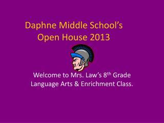 Daphne Middle School's Open House 2013