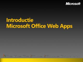 Introductie Microsoft Office Web  Apps