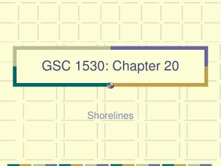 GSC 1530: Chapter 20