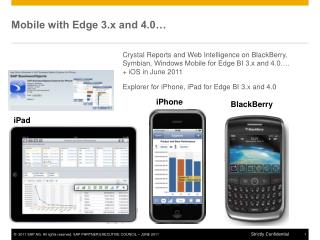 Mobile with Edge 3.x and 4.0…